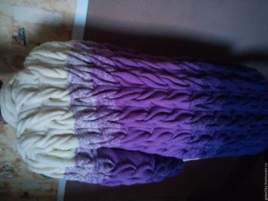 Кофты и свитера ручной работы. Ярмарка Мастеров - ручная работа. Купить Кардиган. Handmade. Сиреневый, пряжа, лана