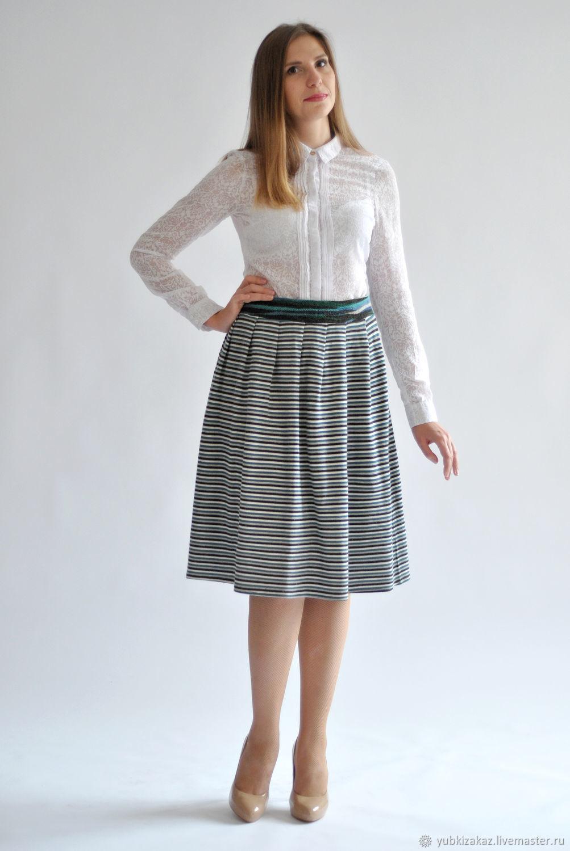 Striped skirt knit, Skirts, Novosibirsk,  Фото №1