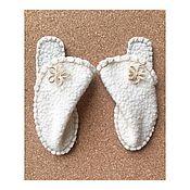 Обувь ручной работы. Ярмарка Мастеров - ручная работа Домашние тапочки на войлоке. Handmade.