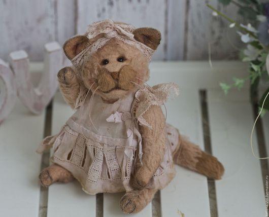 Мишки Тедди ручной работы. Ярмарка Мастеров - ручная работа. Купить Кошечка Рози. Handmade. Кремовый, мишка в подарок, котенок