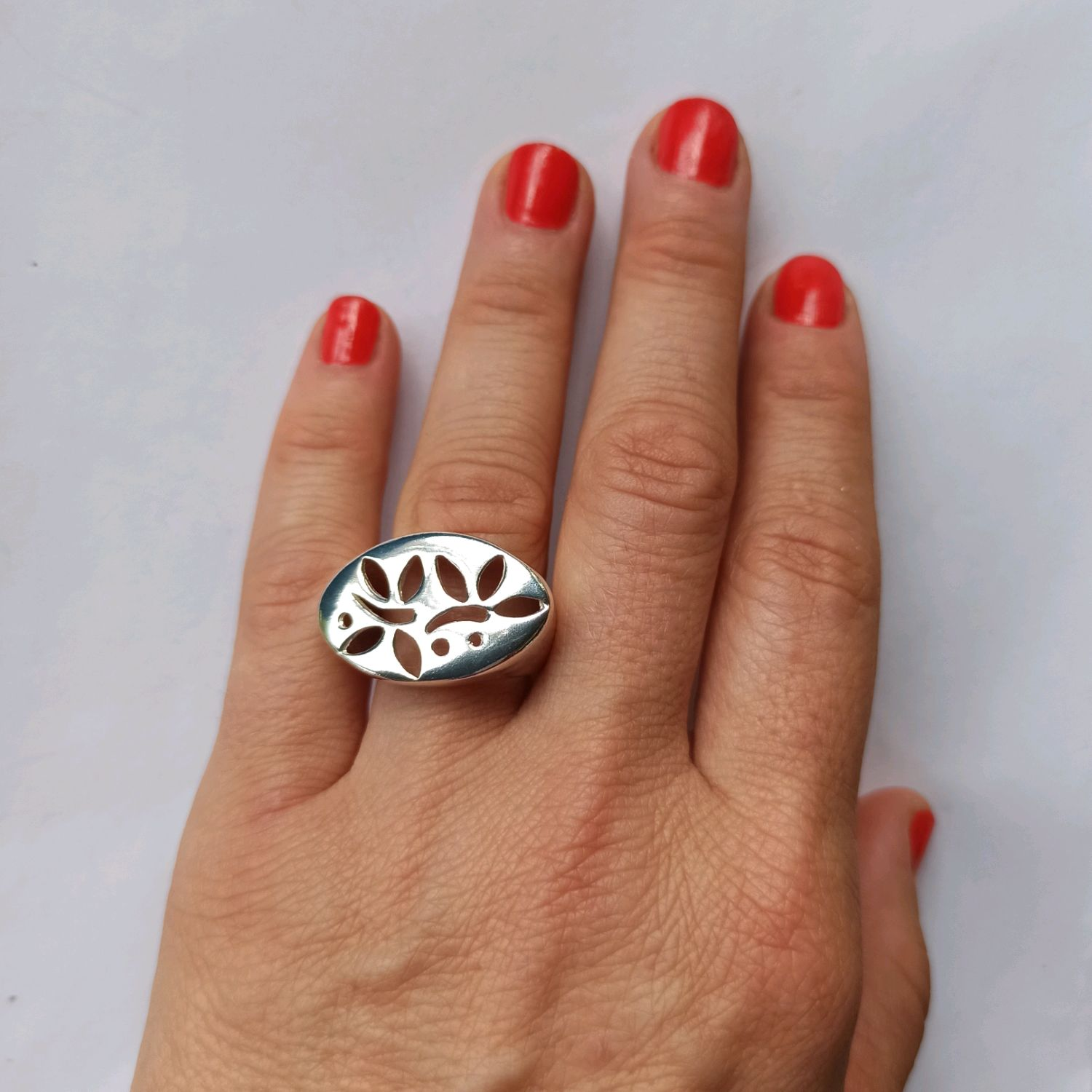 Super unusual ring with a floral motif. Silver ring, Rings, Turin,  Фото №1