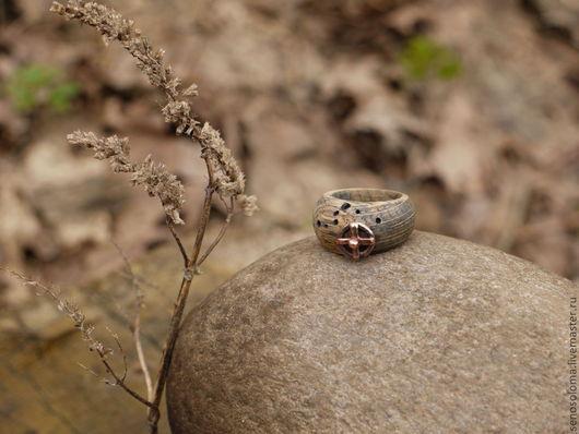 """Кольца ручной работы. Ярмарка Мастеров - ручная работа. Купить Кольцо """"Орбита"""". Handmade. Космос, Дуб"""