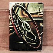 """Канцелярские товары ручной работы. Ярмарка Мастеров - ручная работа обложка """"Руль"""" (кожа). Handmade."""