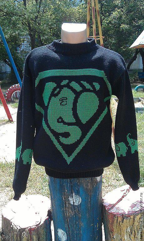 """Кофты и свитера ручной работы. Ярмарка Мастеров - ручная работа. Купить Свитер """"Ганеша"""" (для любителей слонов). Handmade. Черный"""