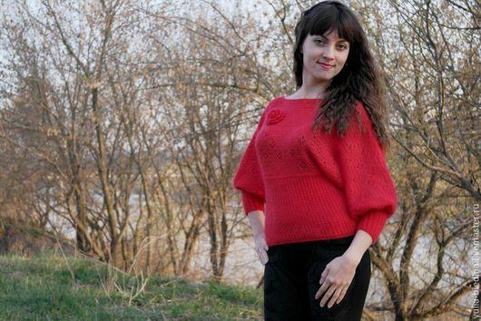 """Кофты и свитера ручной работы. Ярмарка Мастеров - ручная работа. Купить Пуловер из кид-мохера """"Яркая весна"""". Handmade."""