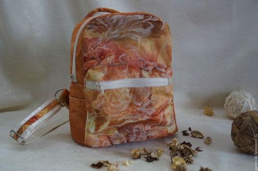 """Рюкзаки ручной работы. Ярмарка Мастеров - ручная работа. Купить Рюкзак из ткани """"Мотивы осени"""". Handmade. Комбинированный, хлопок с вискозой"""