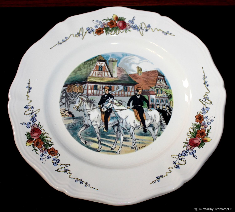 Serving dish, SARREGUEMINES, Obernai, France, Vintage plates, Moscow,  Фото №1