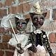 Коллекционные куклы ручной работы. Ярмарка Мастеров - ручная работа. Купить Прогулка. Handmade. Разноцветный, кот, подарок на любой случай