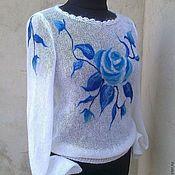 Одежда ручной работы. Ярмарка Мастеров - ручная работа Свитерок вязаный белый. Handmade.