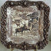 Посуда ручной работы. Ярмарка Мастеров - ручная работа Тарелка подарочная !!!. Handmade.