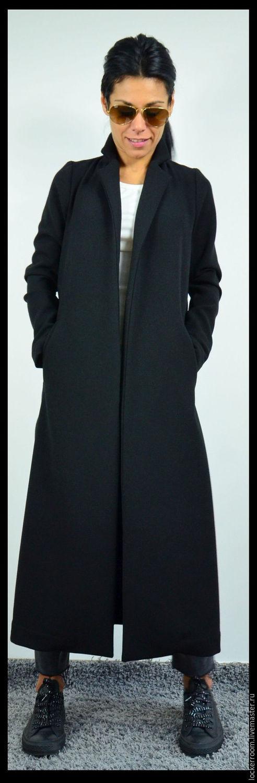 Верхняя одежда ручной работы. Ярмарка Мастеров - ручная работа. Купить Пальто Black Style. Handmade. Черный, черное пальто