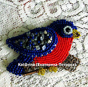 Украшения handmade. Livemaster - original item brooch-the bird and bead
