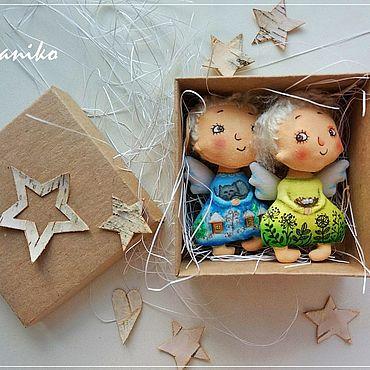 Куклы и игрушки ручной работы. Ярмарка Мастеров - ручная работа Ангелы на ёлку: Зима и Лето РЕЗЕРВ. Handmade.