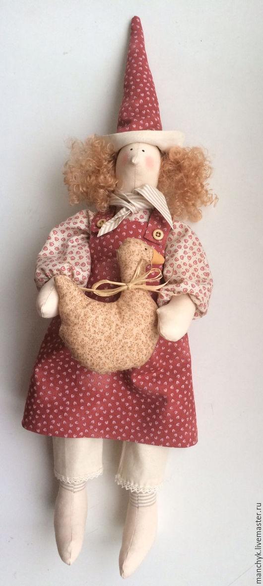 Куклы Тильды ручной работы. Ярмарка Мастеров - ручная работа. Купить Текстильная кукла  Вика. Handmade. Коралловый, кукла Тильда