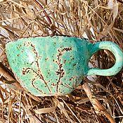 Кружки ручной работы. Ярмарка Мастеров - ручная работа Чашка Морозная керамика. Handmade.