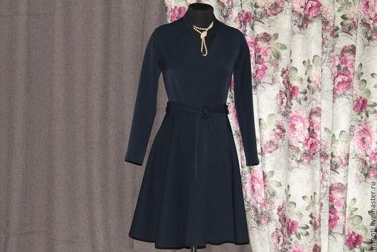 Платья ручной работы. Ярмарка Мастеров - ручная работа. Купить Платье. Handmade. Тёмно-синий, модная одежда, дизайнерская одежда