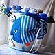 """Подарки для новорожденных, ручной работы. Заказать Композиция из детской одежды """"Морское приключение"""". Мария (bbshower). Ярмарка Мастеров. Букет из носков"""