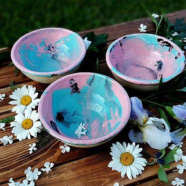 Посуда ручной работы. Ярмарка Мастеров - ручная работа Летний луг - тарелки глубокие, суповые. Handmade.