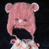 """Работы для детей, ручной работы. Ярмарка Мастеров - ручная работа Шапочка и   носочки на выписку """"Веселые мышата"""". Handmade."""
