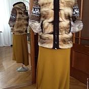 Одежда handmade. Livemaster - original item fur jacket with knit sleeves