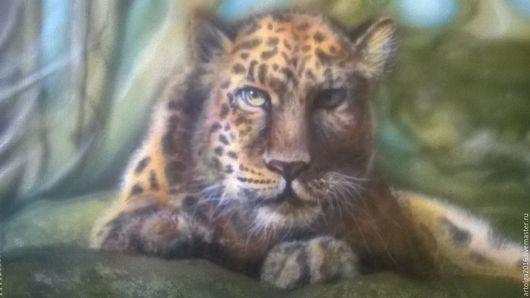 Животные ручной работы. Ярмарка Мастеров - ручная работа. Купить Леопард. Handmade. Коричневый, акриловые краски