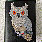 Канцелярские товары handmade. Livemaster - original item Notebook Grey Owl handmade.Notepad from scratch.Decor polymer.. Handmade.