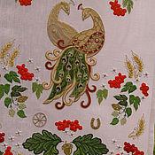 Свадебный салон ручной работы. Ярмарка Мастеров - ручная работа Свадебный рушник с золотыми павлинами. Handmade.