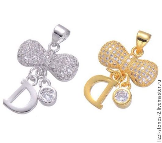Подвеска Dior серебро и золото (Milano) Евгения (Lizzi-stones-2)