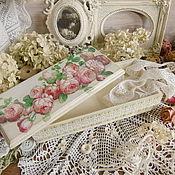 """Для дома и интерьера ручной работы. Ярмарка Мастеров - ручная работа Шкатулка """"Английские розы"""" шкатулка декупаж. Handmade."""