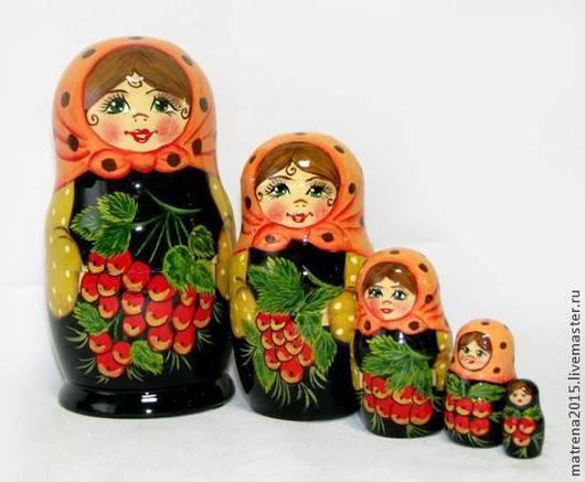 Матрешки ручной работы. Ярмарка Мастеров - ручная работа. Купить Матрешка Рябинушка в ассортименте  5 кукол Ярмарка мастеров. Handmade.