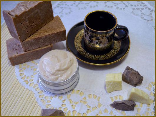 Крем для лица и кастильское мыло `Ванильный шоколад`
