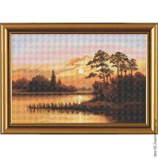 Закат над озером. Арт: 3248.