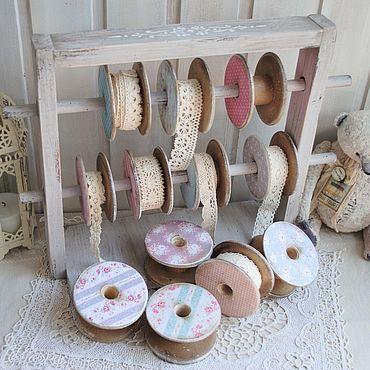 Для дома и интерьера ручной работы. Ярмарка Мастеров - ручная работа Катушечница для кружев подставка с катушками. Handmade.