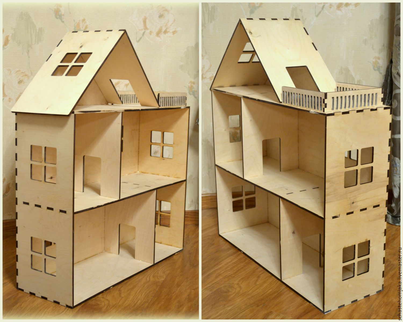 Фанерные домики для кукол своими руками