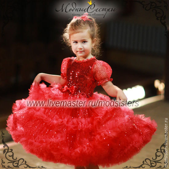 Baby dress 'American' red Art.-099, Childrens Dress, Nizhny Novgorod,  Фото №1
