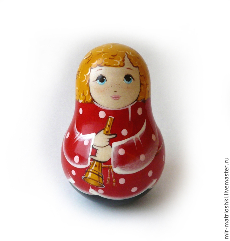 The tumbler is especially attractive and which carries many meanings and symbols toy. Matryoshka is a universal gift for both children and adult. To donate dolls is appropriate in almost