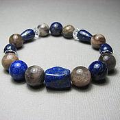 Украшения handmade. Livemaster - original item Bracelet lunar orthoclase, lapis lazuli, rock crystal