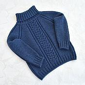 Одежда детская handmade. Livemaster - original item Children`s knitted sweater with a high collar. Merino 100%. Handmade.