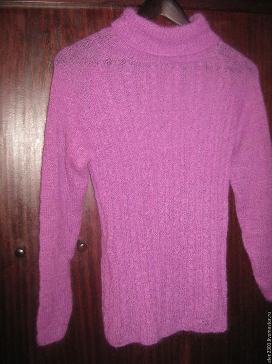 Кофты и свитера ручной работы. Ярмарка Мастеров - ручная работа. Купить свитер-водлазка Нюанс. Handmade. Брусничный, вязаная водолазка