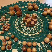 Материалы для творчества ручной работы. Ярмарка Мастеров - ручная работа бусины можжевеловые, кленовые,. Handmade.
