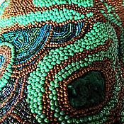 """Аксессуары ручной работы. Ярмарка Мастеров - ручная работа Пояс-корсет """"Малахит"""" вышит натуральным малахитом, бисером. Handmade."""