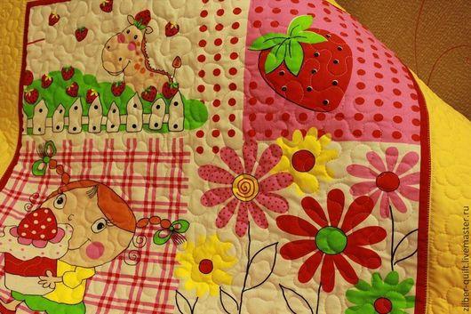 Пледы и одеяла ручной работы. Ярмарка Мастеров - ручная работа. Купить Детское лоскутное одеяло для девочки Лето, пэчворк. Handmade.