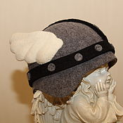 """Для дома и интерьера ручной работы. Ярмарка Мастеров - ручная работа Банная шапка """"Окрыленный викинг"""". Handmade."""