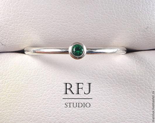 """Кольца ручной работы. Ярмарка Мастеров - ручная работа. Купить Кольцо """"Изумруд"""" в серебре MareLux&RFJStudio. Handmade. Серебро, изумруд, стиль"""