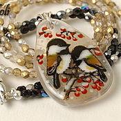 Necklace handmade. Livemaster - original item Necklace with Tits. Handmade.