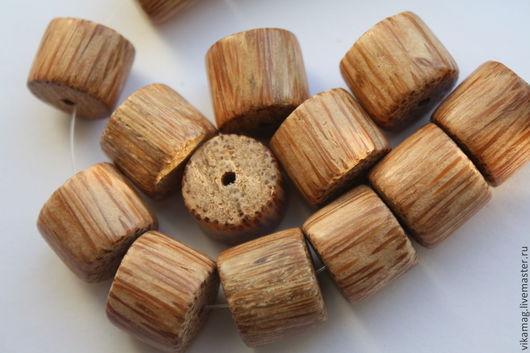 Для украшений ручной работы. Ярмарка Мастеров - ручная работа. Купить Пальмовое дерево, крупный цилиндр, 20 мм. Handmade.