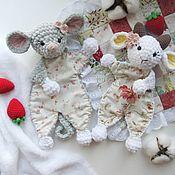 Мягкие игрушки ручной работы. Ярмарка Мастеров - ручная работа Игрушка - комфортер Мышка и Козочка. Handmade.