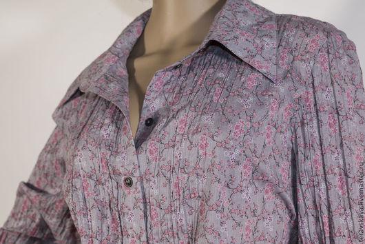 Блузки ручной работы. Ярмарка Мастеров - ручная работа. Купить Рубашка Джеральдин. Handmade. Свободная рубашка, рубашка из хлопка, вискоза