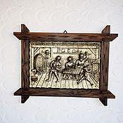 "Винтаж handmade. Livemaster - original item Винтажное немецкое панно "" Трактир"".. Handmade."