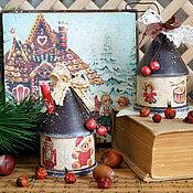 """Подарки к праздникам ручной работы. Ярмарка Мастеров - ручная работа Елочная игрушка домик """"Где живет счастье..."""". Handmade."""
